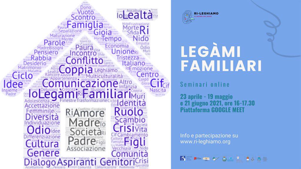 Webinar Legami Familiari copertina